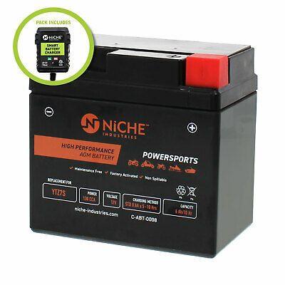 KFX80 NICHE AGM Battery w//charger for YTZ7S fits Kawasaki KFX50 KFX90