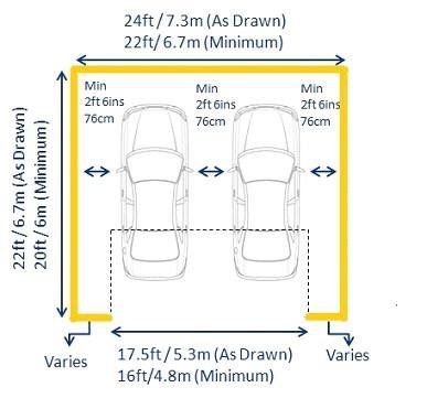 Pin De Sie Sieza Em Medidas Layouts Garagem Para Carros Casa Com Garagem Projeto Garagem