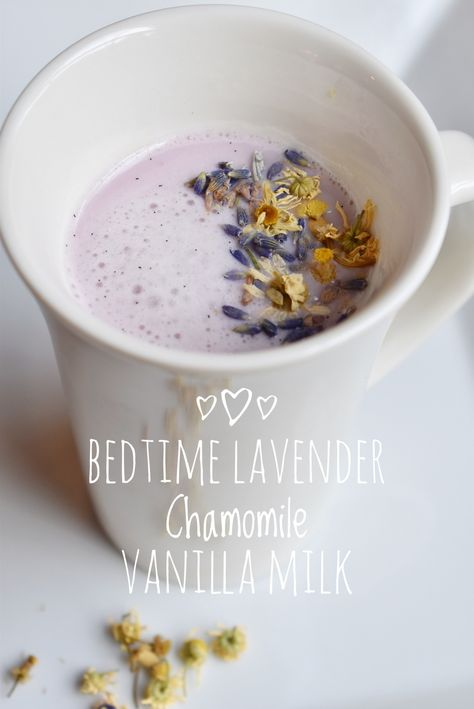 Bedtime Lavender Chamomile Vanilla Milk ⋆ SomeTyme Place<br> Looking for a yummy drink to help calm and promote sleep? Try this recipe for Bedtime Lavender Chamomile Vanilla Milk in your bedtime routine. Yummy Drinks, Healthy Drinks, Yummy Food, Healthy Recipes, Chickpea Recipes, Healthy Food, Nutrition Drinks, Smoothie Drinks, Smoothies
