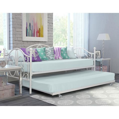 Dhp Bombay Metal Daybed And Trundle White Metal Daybed Daybed