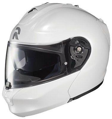 HJC MOTORCYCLE STREET HELMET RIDING IS-MAX II DOT WHITE MODULAR SUNSHIELD