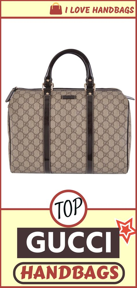 6966f9b39b9dc Gucci handbags for women   Gucci Women s Beige Brown GG Supreme Canvas  Boston Purse Satchel (affiliate link)
