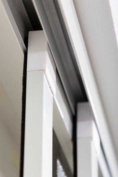 Insektenschutz Doppel-Schiebet/ür 230 x 240 cm Farbe:WEISS