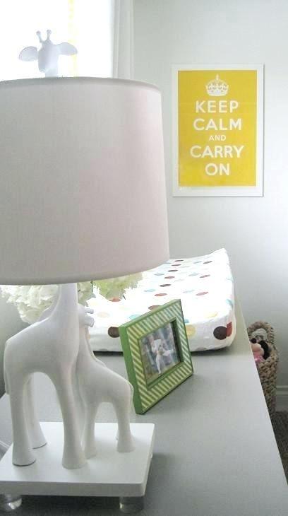 Nursery Table Lamps Giraffe Lamp