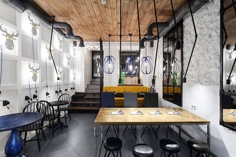 blue cup coffee shop kyiv ukraine on behance restaurant rh pinterest ie