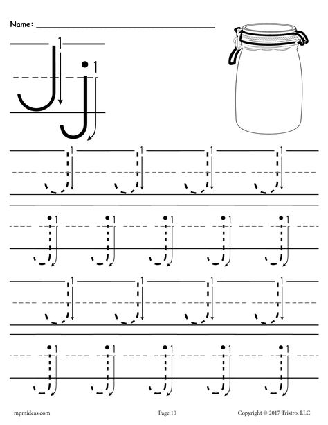 Printable Letter J Tracing Worksheet With Number And Arrow Guides Tracing Worksheets Preschool Letter Tracing Worksheets Tracing Worksheets Letter j free printable worksheets