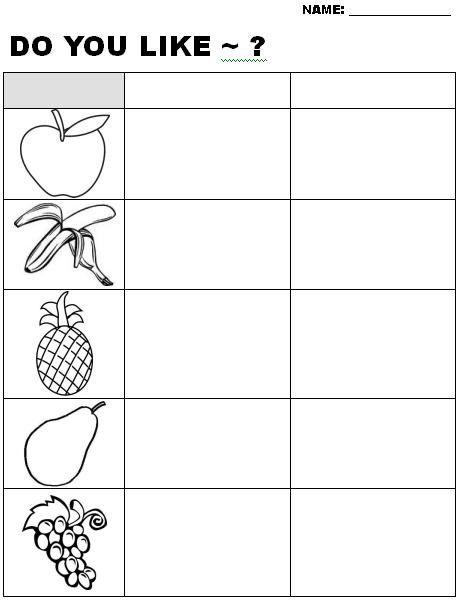 Esl Fruit Worksheets Free Preschool Printables Worksheets Worksheets For Kids