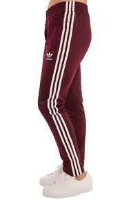 adidas The SST Track Pants in Maroon