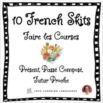10 French skits - Mini dialogues en français | ⭐ French Freebies