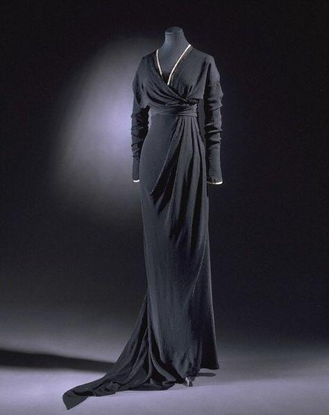 Ephemeral Elegance   Silk Crepe Half Mourning Dress, ca. 1910-12 Lucile...