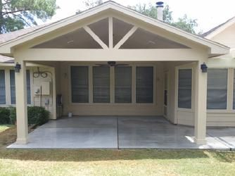 Gable Roof Patio Cover With Wood Stained Ceiling | Gable Roof Patio Cover |  Pinterest | Wood Stain, Ceiling And Patios