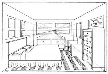 Bedroom 1 Point By Madhavi Perspective Drawing Room Perspective Drawing Perspective Room