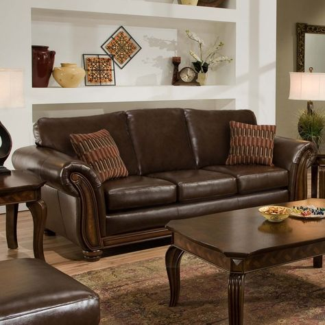 Awesome Simmons Santa Monica Vintage Leather Sofa With Accent Creativecarmelina Interior Chair Design Creativecarmelinacom