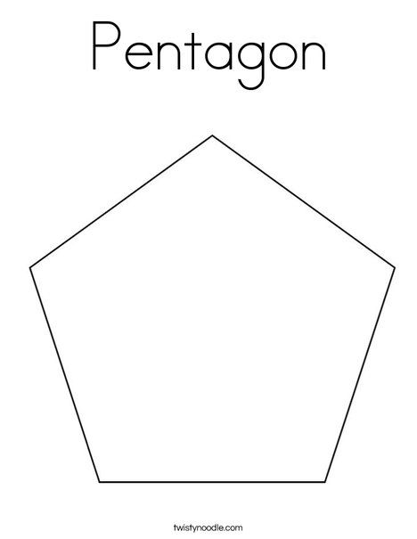 Pentagon Coloring Page Preschool Coloring Pages Letter Worksheets For Preschool Tracing Worksheets Preschool