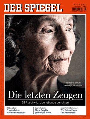 Face-centric magazine covers, accentuating features, close up  SPIEGEL: Auschwitz, Militärflugzeug A400M, Fußball - SPIEGEL ONLINE