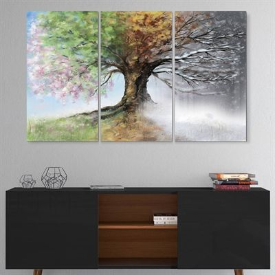 Designart Canada Metal Wall Art Mt9283 3p Tree With Four