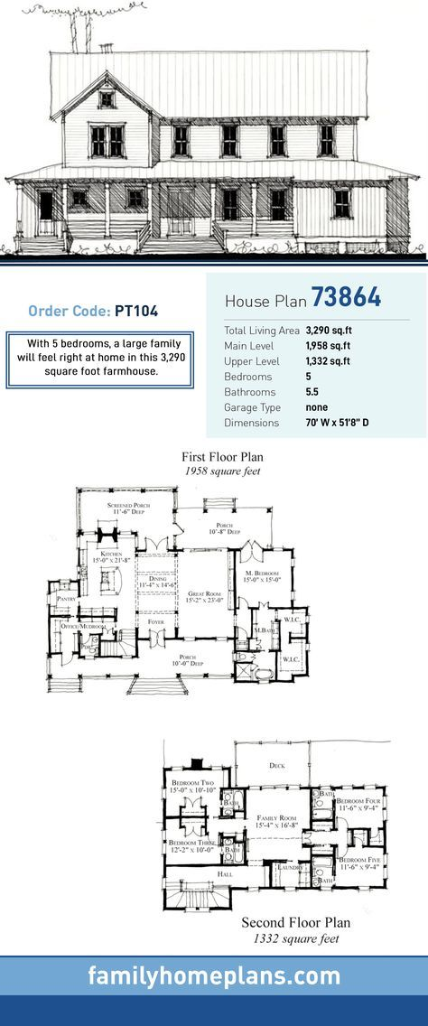 Historic Style House Plan 73864 With 5 Bed 6 Bath House Plans Farmhouse Family House Plans Farmhouse Plans