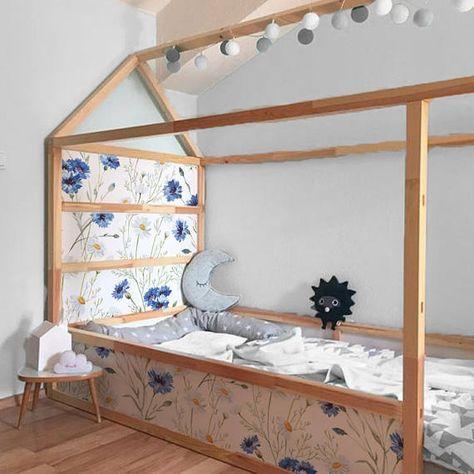 Letti Bassi Per Bambini Ikea.Ikea Kura Bed Adesivi Rimovibili Fiori E Camomille Decalcomanie