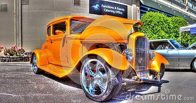 Classic 1930s American Yellow Ford Sedan Car On Display At A Car Show In Melbourne Australia Sedan Australian Cars Sedan Cars