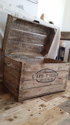 Coffre A Jouet Malle Mini Bar Caisse A Pomme Rangement Boite