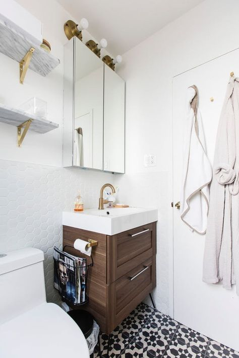 before after this tired 70s bathroom got a classic update rh pinterest com