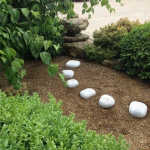 Silver Grey Granite Stepping Cobbles Japanese Garden Natural Garden Stepping Stones