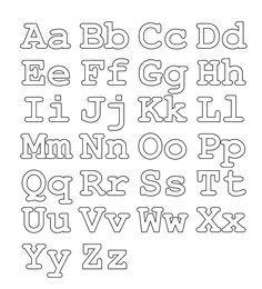 Abecedario Para Colorear Letras Mayúsculas Y Minúsculas Moldes De Letras Letras Para Imprimir Tipos De Letras Abecedario