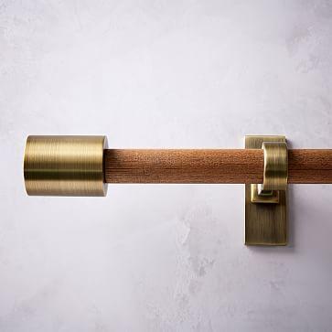 Curtain Rods West Elm Mid Century Wooden Rod Wood Brass In 2020 Gardinenstange Gardinenstangen Aus Holz Vorhangstangen