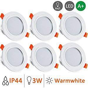 LED Einbaustrahler Einbau-Spots Bad ultra-flach 230V Einbau-Leuchten Lampe 5 SET
