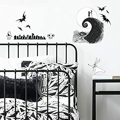 Amazon Com Roommates The Nightmare Before Christmas Jack And Sally Peel And Stick Wall Decals Black Wall Stickers Christmas Wall Stickers Disney Room Decor