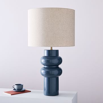 Modern Totem Table Lamp Tall Petrol Blue In 2020 Table Lamp