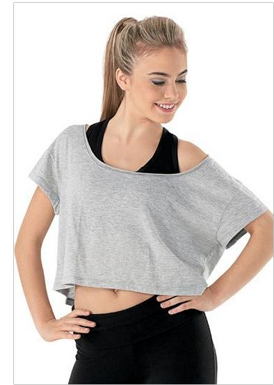 c985e74adf9 Oversized Crop Tee ~ Dancewear Solutions