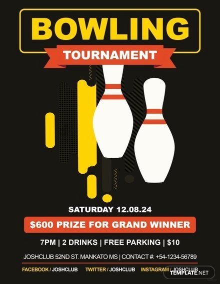 Bowling Flyer Template Free Unique Free Bowling Flyer Template Flyer Template Flyer Event Flyer Templates
