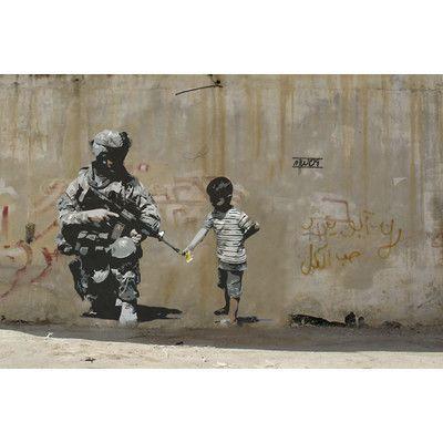 "JaxsonRea ""Peace"" by Banksy Graphic Art on Wrapped Canvas Size:"