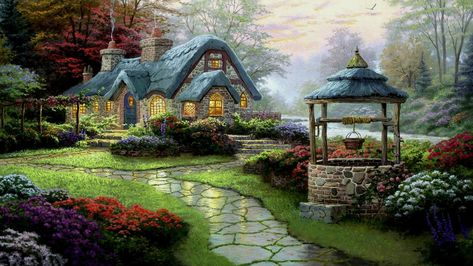 beautiful english cottage hd cool wallpaper free cottage rh pinterest com