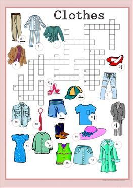 Fashion Crossword In 2020 Vocabulary Posters Worksheets Teaching English