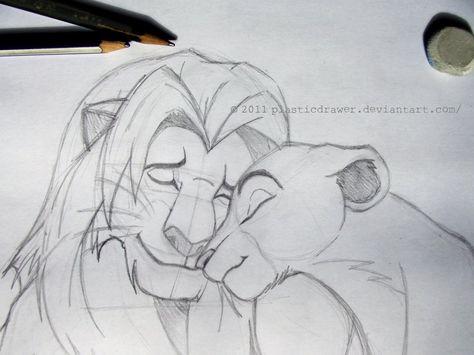 Lion King Sketch by PlasticDrawer.deviantart.com on @deviantART