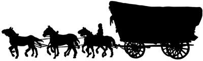 17+ Horse and covered wagon clipart ideas