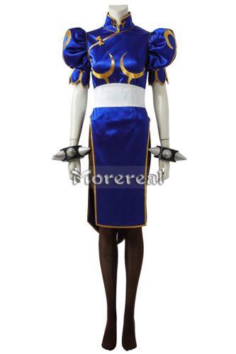 Street Fighter Chun Li Cosplay Costume Accessory Customize Fancy Halloween Suit