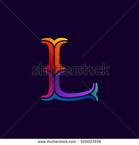Fast Speed Two Lines Letter L Stock Vector 447662233 - Shutterstock
