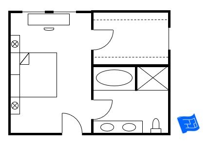 Master Bedroom Floorplan With Entry Into The Bedroom And The Closet And Bathrrom Leading Off Master Bedroom Plans Master Bedroom Addition Master Bedroom Layout