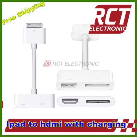 White 1080p 30 Pin Dock Connector To Hdmi Hd Cable Digital Adapter For Ipad 2 3 For Iphone 4 4s Hdmi Adapter Cable