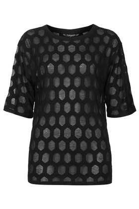 T-shirt à losanges dévorés - T-shirts  - Tops  - Vêtements