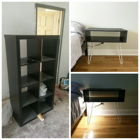 used the shelving from a used ikea bookcase and made 2 nightstands rh pinterest co uk