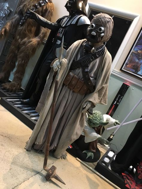 Life Size Star Wars Sandpeople Tusken Raider With Weapon Starwarshighend Starwarslifesize Tuskenraider Sand Movie Props Props For Sale Star Wars Collection
