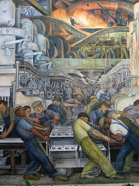 Diego Rivera Painting at the DIA. I used to love sitting in that little courtyard and staring at this mural when I was in college and stressed...