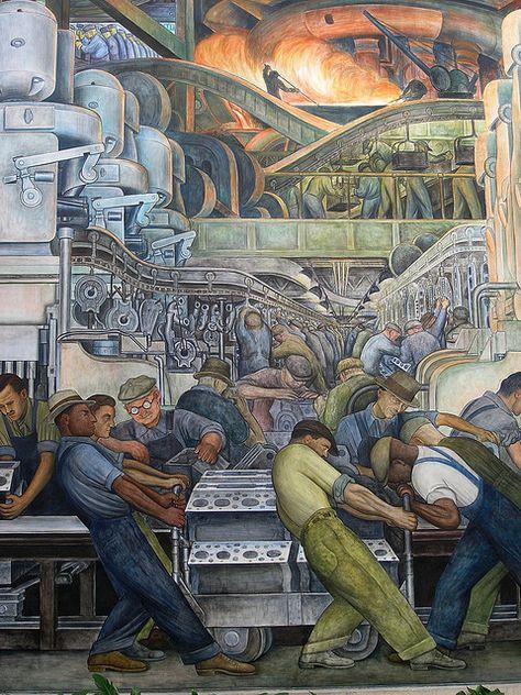 Diego Rivera - Industria de Detroit muro norte