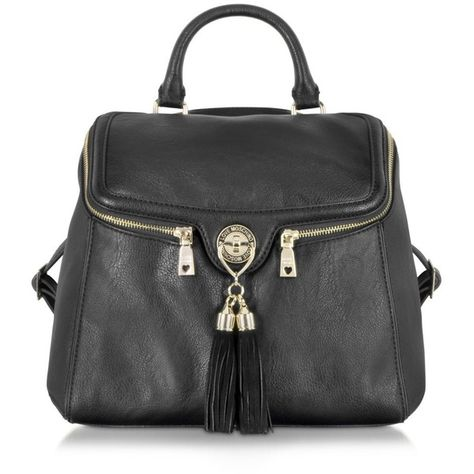 486463c8cf8 Love Moschino Pebble Grain Eco Leather Backpack (415 CAD) ❤ liked on Polyvore  featuring bags, backpacks, black, hardware bag, moschino backpack, bucket  bag ...