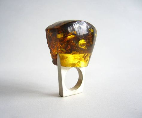 Heidi Abrahamson Amber Sterling Silver Ring image 2