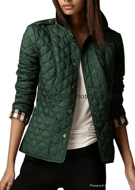 Burberry Racing Green Kencott Quilted Jacket Size 4 S 53 Off Retail Quilted Jacket Fashion Jackets